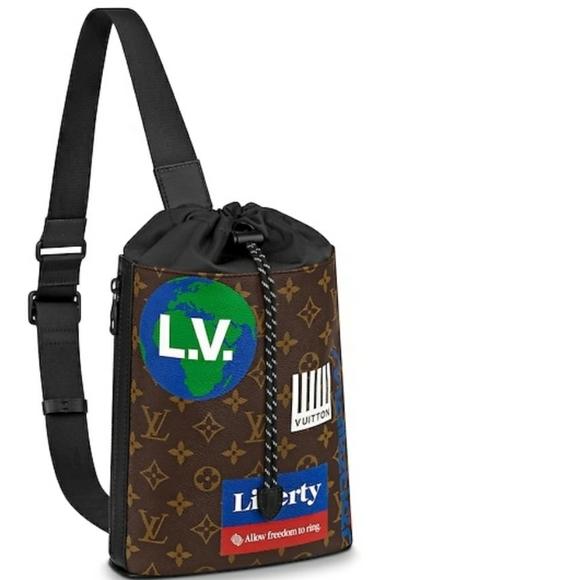 Louis Vuitton Chalk Sling Bag Backpack Monogram